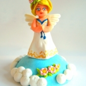 """Decoraţie de zahăr """"Înger"""""""