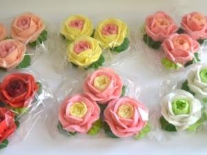 """Decoraţie de zahăr """"Set Trandafiri de grădină"""""""