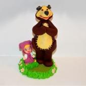 """Decoraţie de zahăr """"Maşa şi ursul"""""""