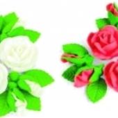 "Decoraţie de zahăr ""Set de trandafiri"""