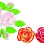 """Decoraţie de zahăr """"Set de trandafiri de dulceaţa"""""""
