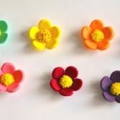 """Decoraţie de zahăr """"Set flori de primăvară"""""""