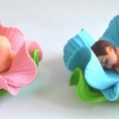 """Decoraţie de zahăr """"Bebeluş în floare"""""""